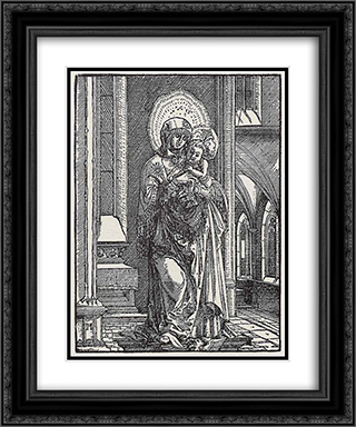 Beautiful Mary in the Church 20x24 Black or Gold Ornate Framed and Double Matted Art Print by Albrecht Altdorfer