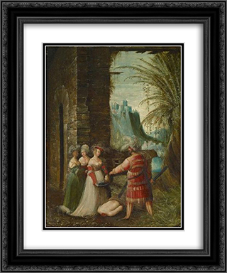 Beheading of John the Baptist 20x24 Black or Gold Ornate Framed and Double Matted Art Print by Albrecht Altdorfer
