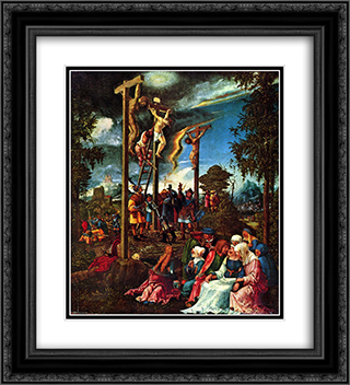 Calvary 20x22 Black or Gold Ornate Framed and Double Matted Art Print by Albrecht Altdorfer