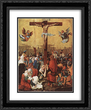 Christ on the Cross 20x24 Black or Gold Ornate Framed and Double Matted Art Print by Albrecht Altdorfer