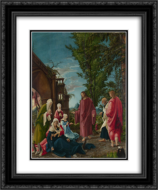 Christ taking Leave of his Mother 20x24 Black or Gold Ornate Framed and Double Matted Art Print by Albrecht Altdorfer