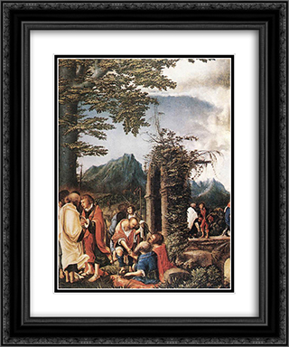 Communion of the Apostles 20x24 Black or Gold Ornate Framed and Double Matted Art Print by Albrecht Altdorfer