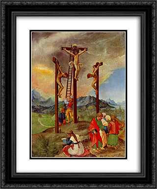 Crucifixion 20x24 Black or Gold Ornate Framed and Double Matted Art Print by Albrecht Altdorfer