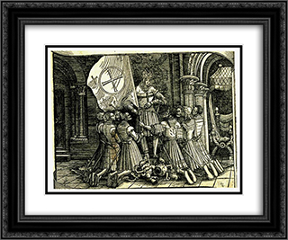 Crusade 24x20 Black or Gold Ornate Framed and Double Matted Art Print by Albrecht Altdorfer