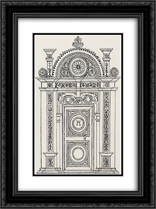 Design of a portal technology 18x24 Black or Gold Ornate Framed and Double Matted Art Print by Albrecht Altdorfer
