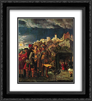 Florian result, scenes for legend of St. Florian 20x22 Black or Gold Ornate Framed and Double Matted Art Print by Albrecht Altdorfer
