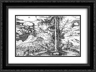 Landscape 24x18 Black or Gold Ornate Framed and Double Matted Art Print by Albrecht Altdorfer