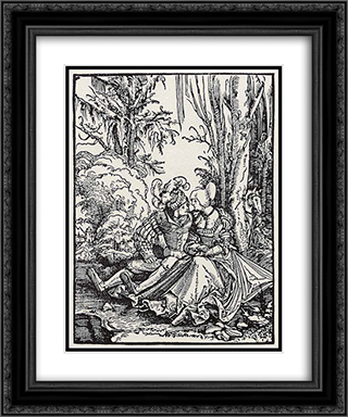 Lovers 20x24 Black or Gold Ornate Framed and Double Matted Art Print by Albrecht Altdorfer