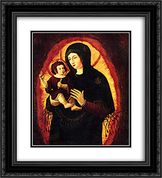 Madonna (Beautiful Maria of Regensburg) 20x22 Black or Gold Ornate Framed and Double Matted Art Print by Albrecht Altdorfer