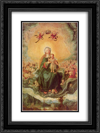 Mary in Glory 18x24 Black or Gold Ornate Framed and Double Matted Art Print by Albrecht Altdorfer