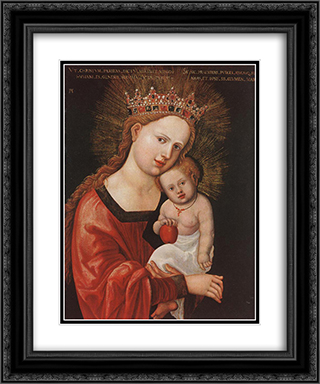 Mary with the Child 20x24 Black or Gold Ornate Framed and Double Matted Art Print by Albrecht Altdorfer
