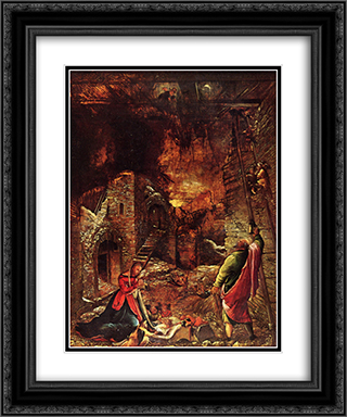 Nativity 20x24 Black or Gold Ornate Framed and Double Matted Art Print by Albrecht Altdorfer
