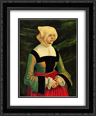 Portrait of a Woman 20x24 Black or Gold Ornate Framed and Double Matted Art Print by Albrecht Altdorfer