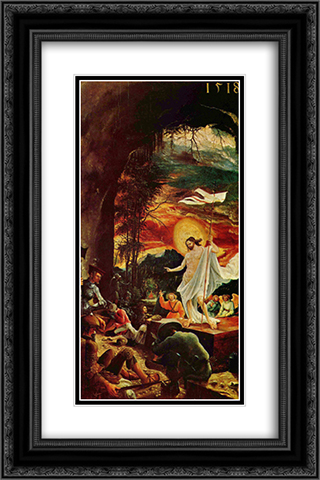 Resurrection of Christ 16x24 Black or Gold Ornate Framed and Double Matted Art Print by Albrecht Altdorfer