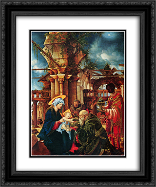 The Adoration of the Magi 20x24 Black or Gold Ornate Framed and Double Matted Art Print by Albrecht Altdorfer