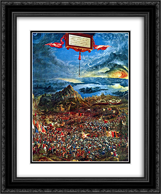 The battle of Issus 20x24 Black or Gold Ornate Framed and Double Matted Art Print by Albrecht Altdorfer