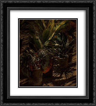 Begonie 20x22 Black or Gold Ornate Framed and Double Matted Art Print by Aleksander Gierymski