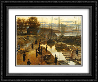 Feast of trumpets I 24x20 Black or Gold Ornate Framed and Double Matted Art Print by Aleksander Gierymski