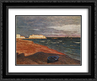 The Sea 24x20 Black or Gold Ornate Framed and Double Matted Art Print by Aleksander Gierymski