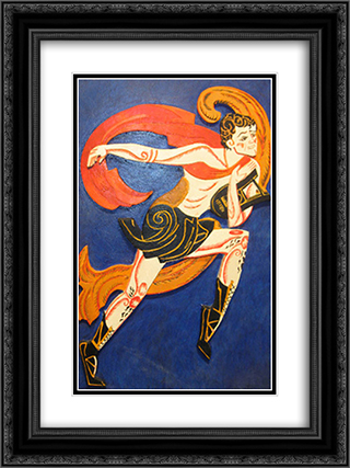 Costume Design for The Bacchae from drame Famira Kifared 18x24 Black or Gold Ornate Framed and Double Matted Art Print by Aleksandra Ekster