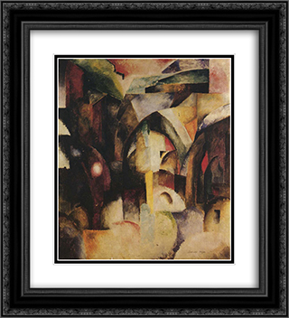 Interno cubista 20x22 Black or Gold Ornate Framed and Double Matted Art Print by Aleksandra Ekster