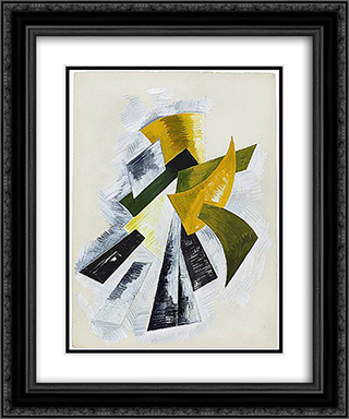 Painting 20x24 Black or Gold Ornate Framed and Double Matted Art Print by Aleksandra Ekster