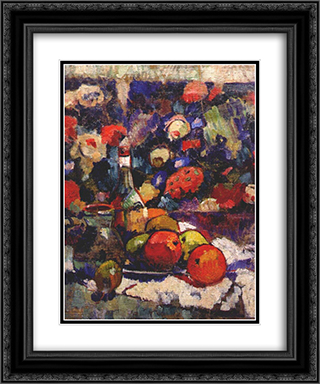 Still life 20x24 Black or Gold Ornate Framed and Double Matted Art Print by Aleksandra Ekster