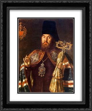 Archbishop Sylvester Kuliabka 20x24 Black or Gold Ornate Framed and Double Matted Art Print by Aleksey Antropov