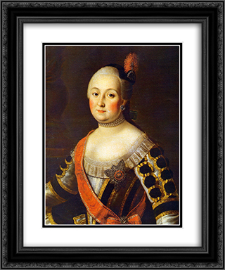 Countess Anna Vorontsova 20x24 Black or Gold Ornate Framed and Double Matted Art Print by Aleksey Antropov
