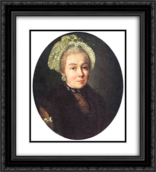 Portrait of an Unknown Lady 20x22 Black or Gold Ornate Framed and Double Matted Art Print by Aleksey Antropov