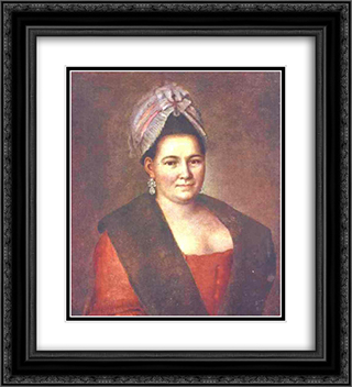 Portrait of an Unknown Woman 20x22 Black or Gold Ornate Framed and Double Matted Art Print by Aleksey Antropov