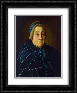 Portrait of Anna Vasiliyevna Buturlina 20x24 Black or Gold Ornate Framed and Double Matted Art Print by Aleksey Antropov