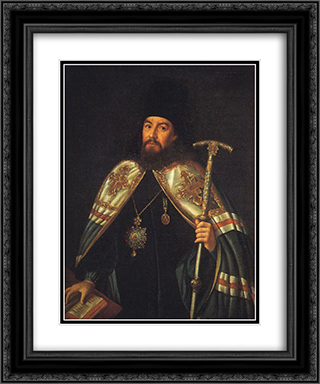 Portrait of archbishop Gavriil Petrov 20x24 Black or Gold Ornate Framed and Double Matted Art Print by Aleksey Antropov
