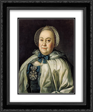 Portrait of Countess M.A.Rumyantzeva 20x24 Black or Gold Ornate Framed and Double Matted Art Print by Aleksey Antropov