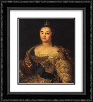Portrait of Elizabeth of Russia 20x22 Black or Gold Ornate Framed and Double Matted Art Print by Aleksey Antropov