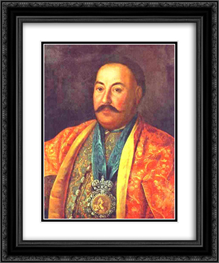 Portrait of F.Krasnoschiokov 20x24 Black or Gold Ornate Framed and Double Matted Art Print by Aleksey Antropov