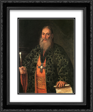 Portrait of Fyodor Dubyansky 20x24 Black or Gold Ornate Framed and Double Matted Art Print by Aleksey Antropov