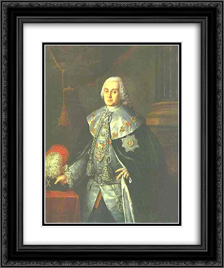 Portrait of General in Chief, Count William W.Fermor 20x24 Black or Gold Ornate Framed and Double Matted Art Print by Aleksey Antropov