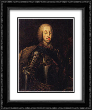 Portrait of Grand Duke Peter Fedotovich (later Peter III), 20x24 Black or Gold Ornate Framed and Double Matted Art Print by Aleksey Antropov