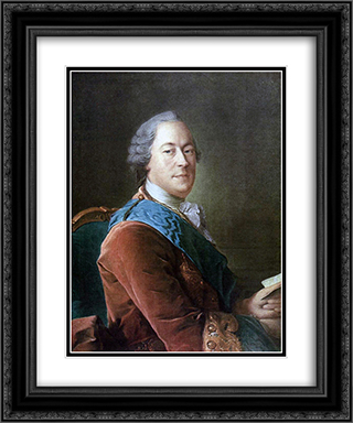 Portrait of Prince M.I.Vorontsov 20x24 Black or Gold Ornate Framed and Double Matted Art Print by Aleksey Antropov