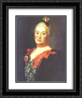 Portrait of Princess T.A.Trubetzkaya 20x24 Black or Gold Ornate Framed and Double Matted Art Print by Aleksey Antropov