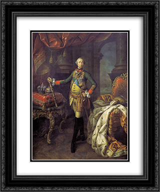 Portrait of Tsar Peter III (1728-62) 20x24 Black or Gold Ornate Framed and Double Matted Art Print by Aleksey Antropov