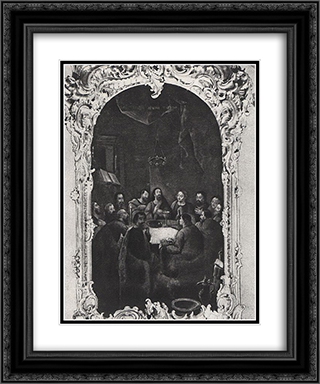 The Last Supper 20x24 Black or Gold Ornate Framed and Double Matted Art Print by Aleksey Antropov