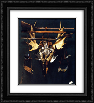 After the Hunt 20x22 Black or Gold Ornate Framed and Double Matted Art Print by Alexander Pope