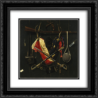 Emblems of the Civil War 20x20 Black or Gold Ornate Framed and Double Matted Art Print by Alexander Pope