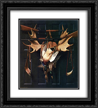Successful Hunter 20x22 Black or Gold Ornate Framed and Double Matted Art Print by Alexander Pope