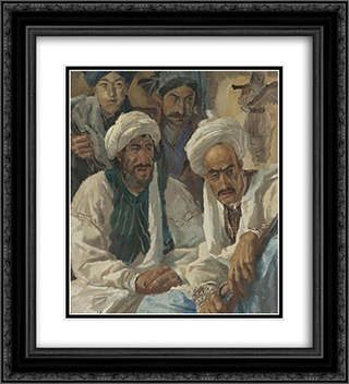 Afghans 20x22 Black or Gold Ornate Framed and Double Matted Art Print by Alexandre Jacovleff