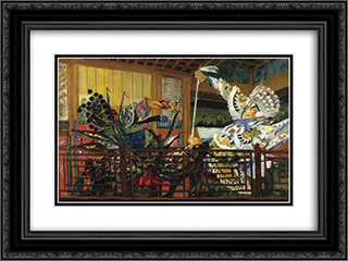 Battle of the Warriors 24x18 Black or Gold Ornate Framed and Double Matted Art Print by Alexandre Jacovleff