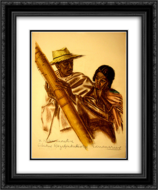 Dessins Et Peintures D'afrique Executes Au Cours De L'expedition Citroen Centre Afrique 20x24 Black or Gold Ornate Framed and Double Matted Art Print by Alexandre Jacovleff