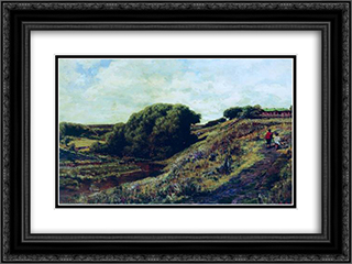 Ablyazov. Radishchevskaya estate. Ravine 24x18 Black or Gold Ornate Framed and Double Matted Art Print by Alexey Bogolyubov